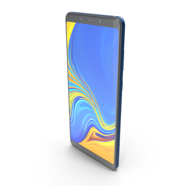 Samsung Galaxy A9 (2018) Lemonade Blue PNG & PSD Images