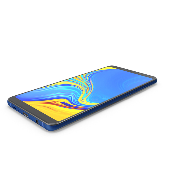 Samsung GALAXY A9 Blue 2018-2019 PNG & PSD Images