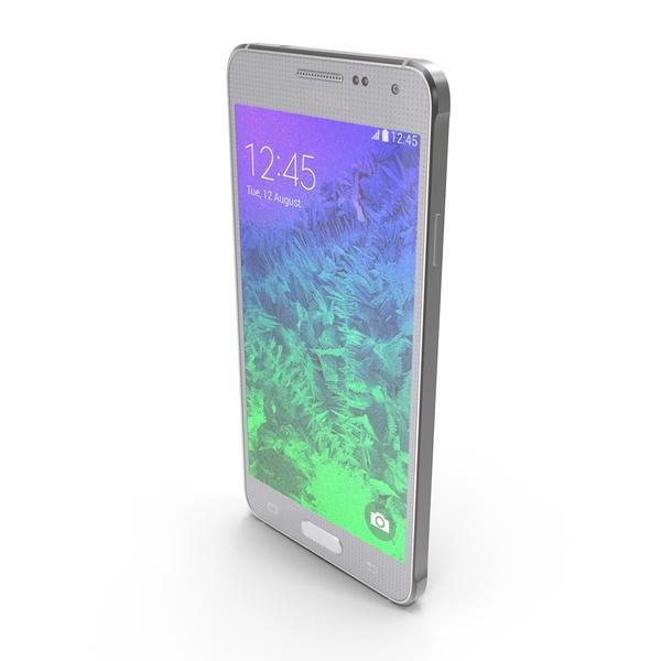 Smartphone: Samsung Galaxy Alpha Sleek Silver PNG & PSD Images