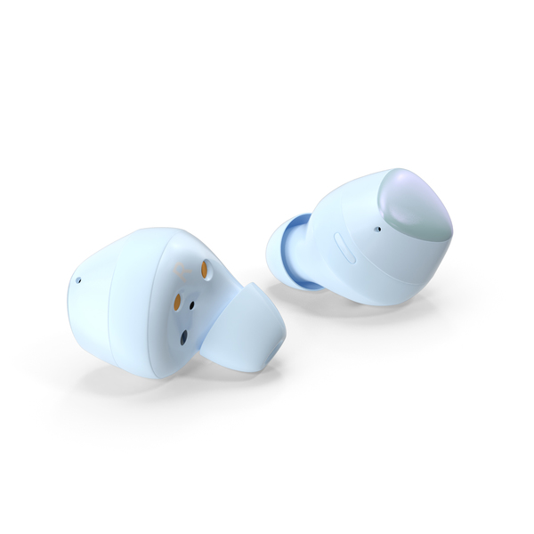Samsung Galaxy Buds Plus TWS Earbuds Blue PNG & PSD Images