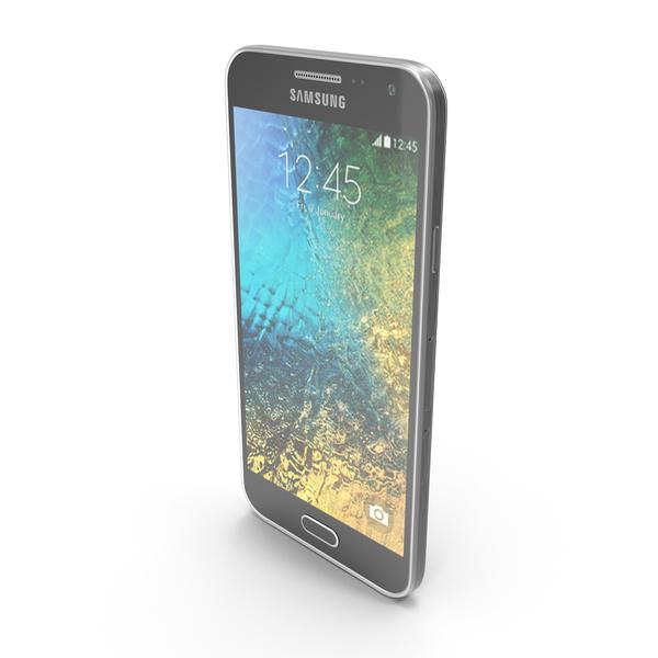 Smartphone: Samsung Galaxy E5 Black PNG & PSD Images