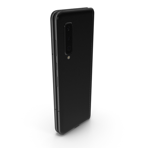 Smartphone: Samsung Galaxy Fold Black Folded PNG & PSD Images
