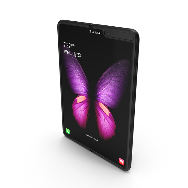 Smartphone: Samsung Galaxy Fold Black PNG & PSD Images
