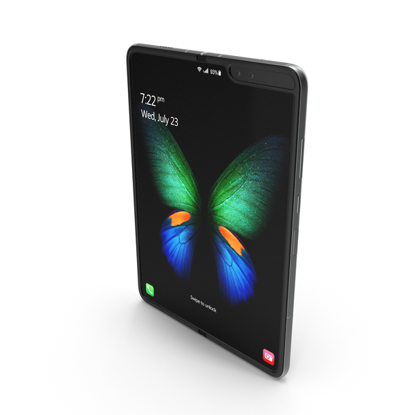 Samsung Galaxy Fold Silver PNG & PSD Images