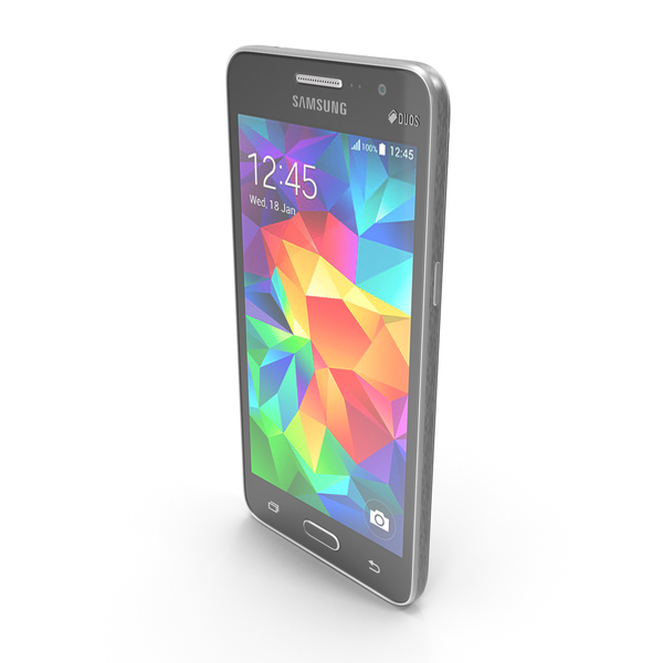 Smartphone: Samsung Galaxy Grand Prime Gray PNG & PSD Images
