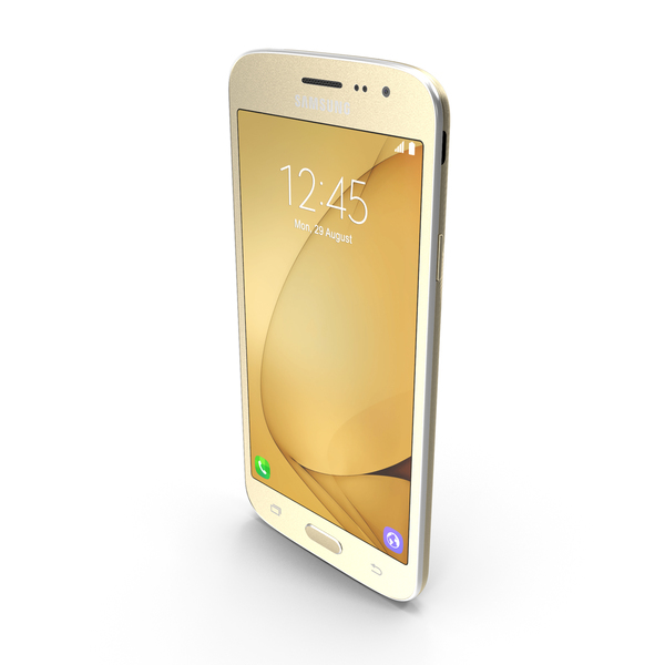 Smartphone: Samsung Galaxy J2 2016 Gold PNG & PSD Images