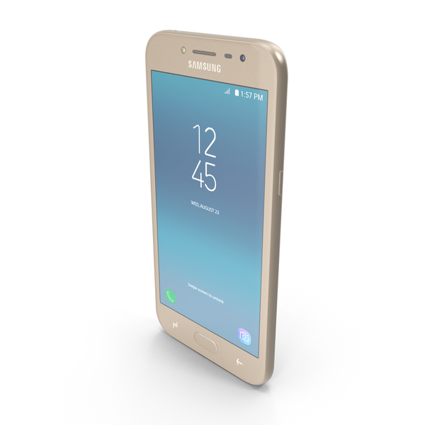 Smartphone: Samsung Galaxy J2 Pro (2018) Gold PNG & PSD Images