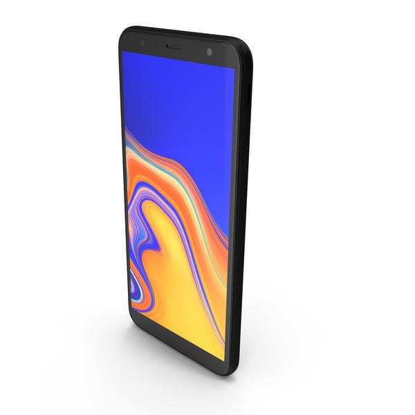 Samsung Galaxy J4 Plus 2018 Black PNG & PSD Images
