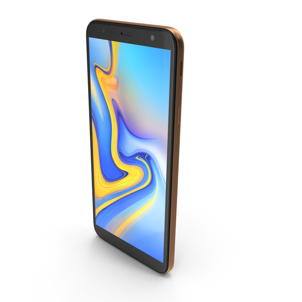 Smartphone: Samsung Galaxy J4 Plus 2018 Gold PNG & PSD Images