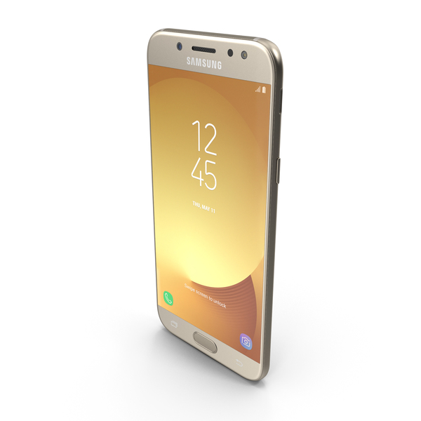 Smartphone: Samsung Galaxy J5 2017 Gold PNG & PSD Images