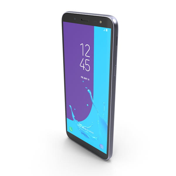 Samsung Galaxy J6 2018 Lavender PNG & PSD Images