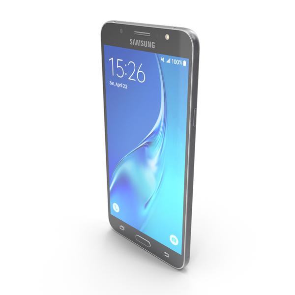 Samsung Galaxy J7 2016 Black PNG & PSD Images
