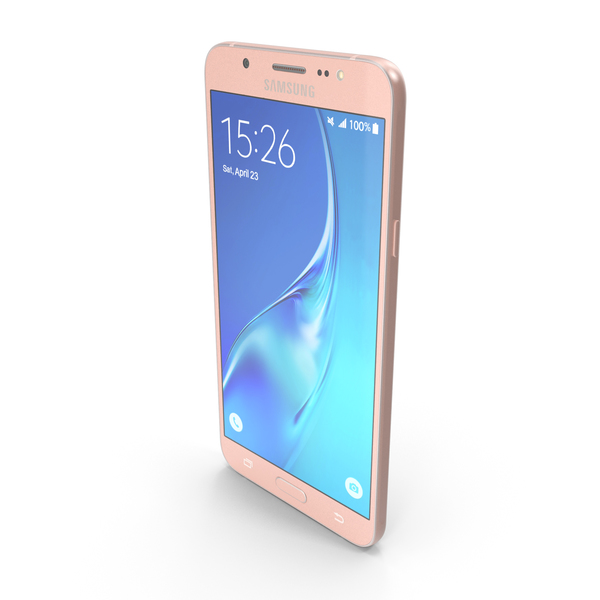 Samsung Galaxy J7 2016 Rose Gold PNG & PSD Images
