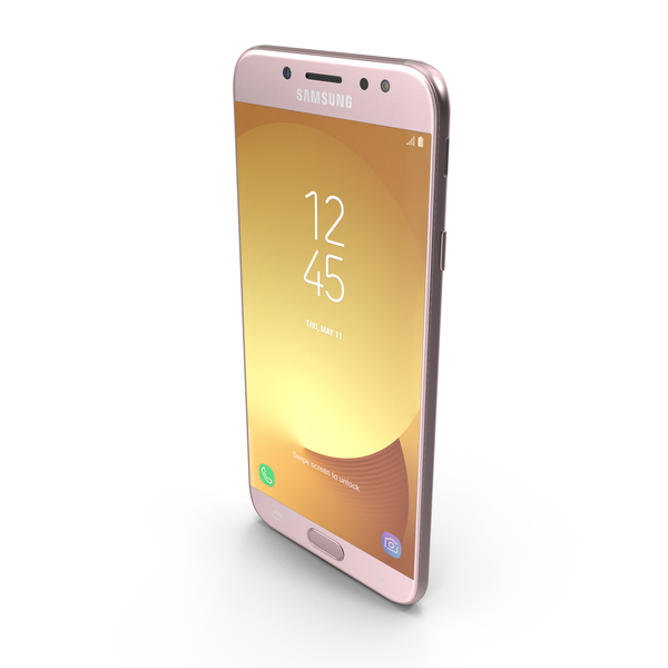Smartphone: Samsung Galaxy J7 2017 Pink MAX2014 PNG & PSD Images