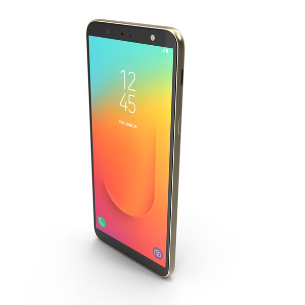 Samsung Galaxy J8 (On8) Gold PNG & PSD Images
