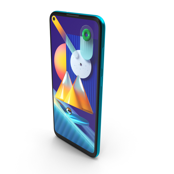 Samsung Galaxy M11 Blue PNG & PSD Images