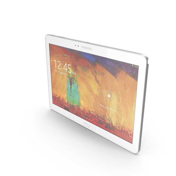Samsung Galaxy Note 10.1 (2014 Edition) White PNG & PSD Images