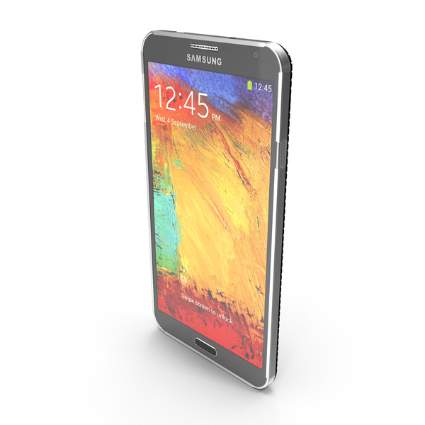 Smartphone: Samsung Galaxy Note 3 Black PNG & PSD Images