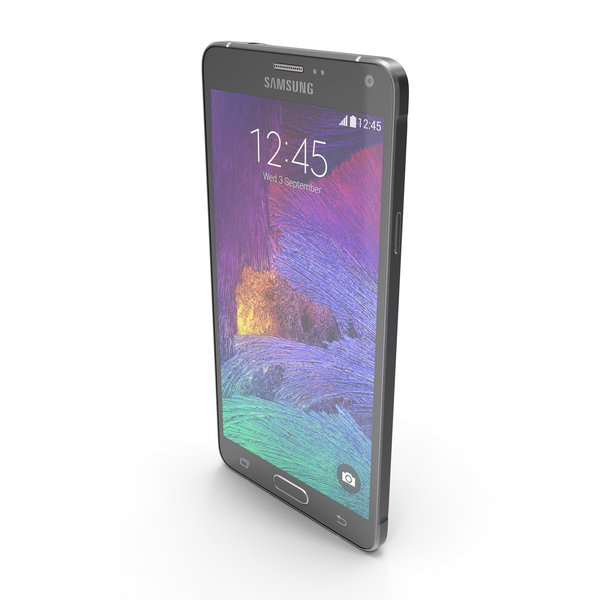 Smartphone: Samsung Galaxy Note 4 Charcoal Black PNG & PSD Images