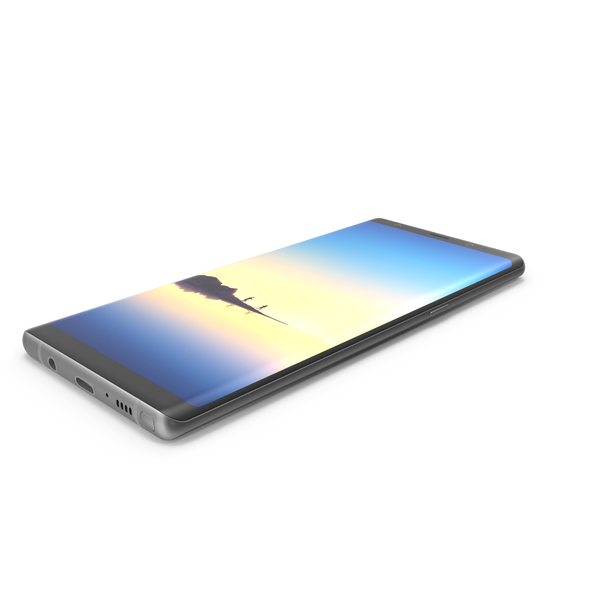 Samsung GALAXY Note 8 Midnight Black PNG & PSD Images