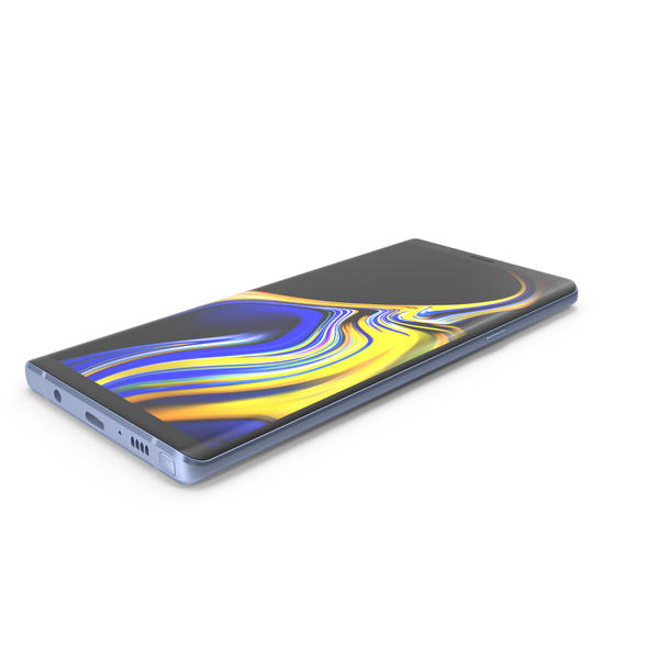 Samsung Galaxy Note 9 Ocean Blue PNG & PSD Images