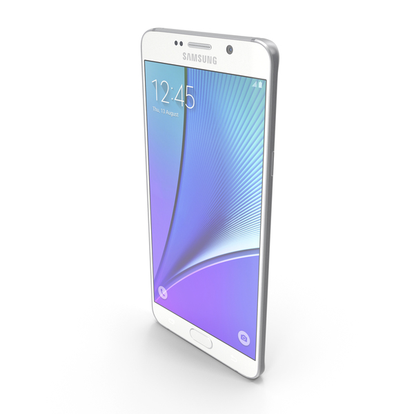 Smartphone: Samsung Galaxy Note5 White Pearl PNG & PSD Images