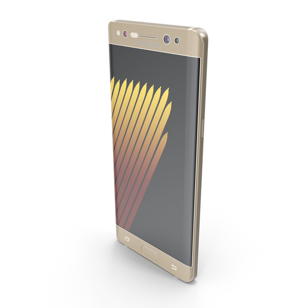 Smartphone: Samsung Galaxy Note7 Gold Platinum PNG & PSD Images