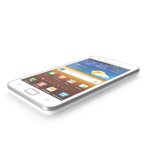 Samsung galaxy S 2 i9100 White PNG & PSD Images