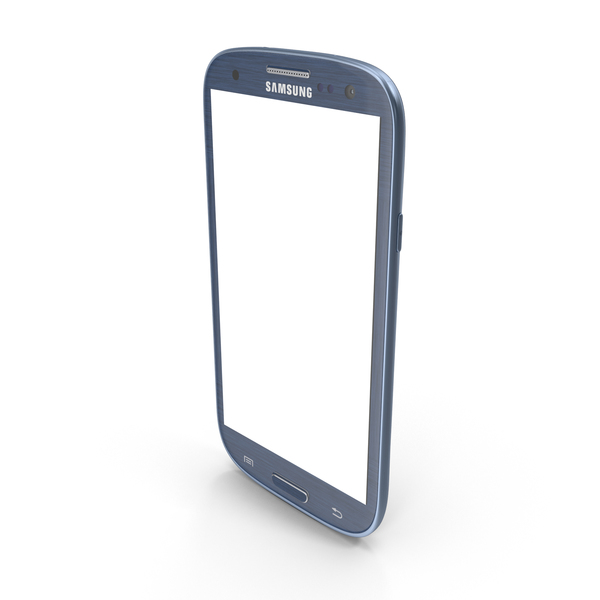 Smartphone: Samsung Galaxy S III Blue PNG & PSD Images