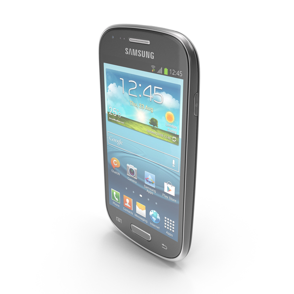 Smartphone: Samsung Galaxy S III mini VE Black PNG & PSD Images
