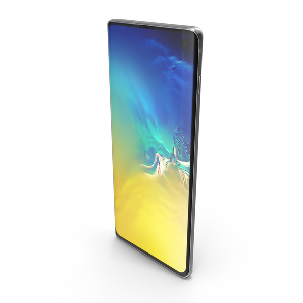 Samsung Galaxy S10 Aquamarine PNG & PSD Images