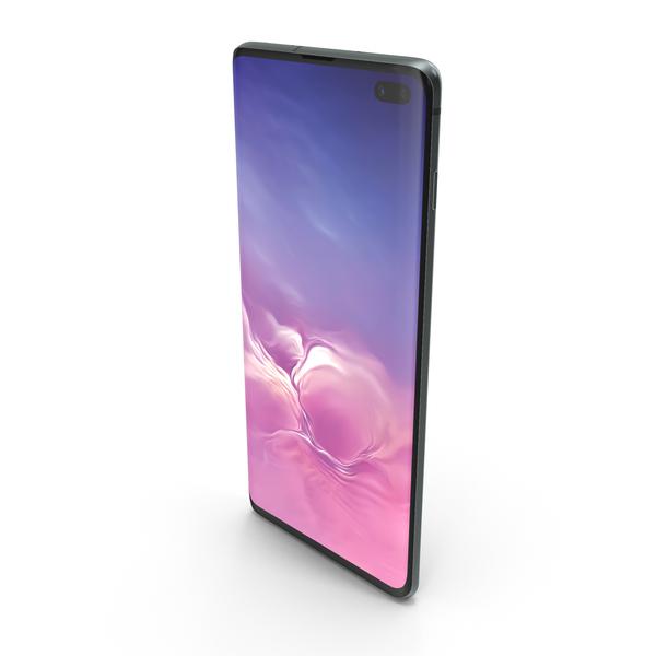 Samsung Galaxy S10 Plus Ceramic Black PNG & PSD Images