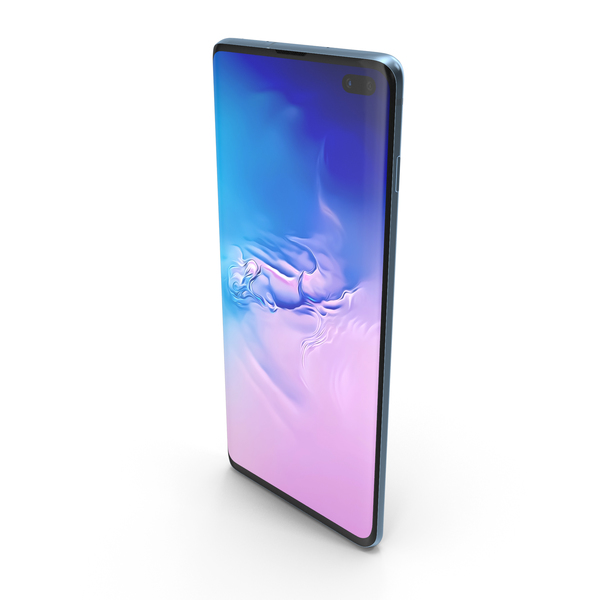 Samsung Galaxy S10 Plus Prism Blue PNG & PSD Images