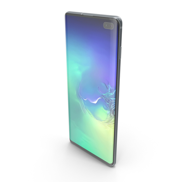 Samsung Galaxy S10 Plus Prism Green PNG & PSD Images
