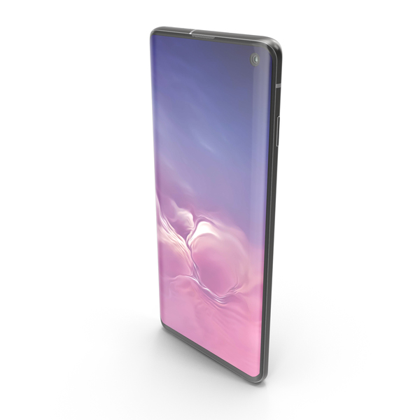 Smartphone: Samsung Galaxy S10 Prism Black PNG & PSD Images