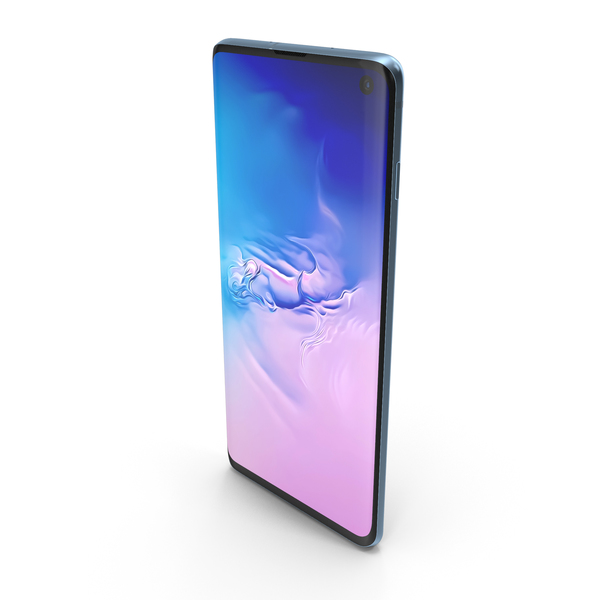 Samsung Galaxy S10 Prism Blue PNG & PSD Images