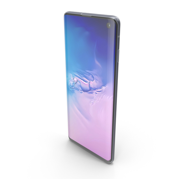 Smartphone: Samsung Galaxy S10 Prism Blue PNG & PSD Images