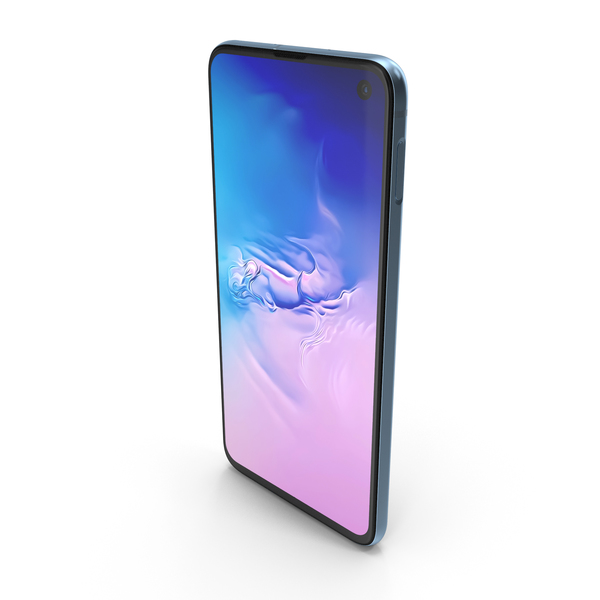 Samsung Galaxy S10e Prism Blue PNG & PSD Images