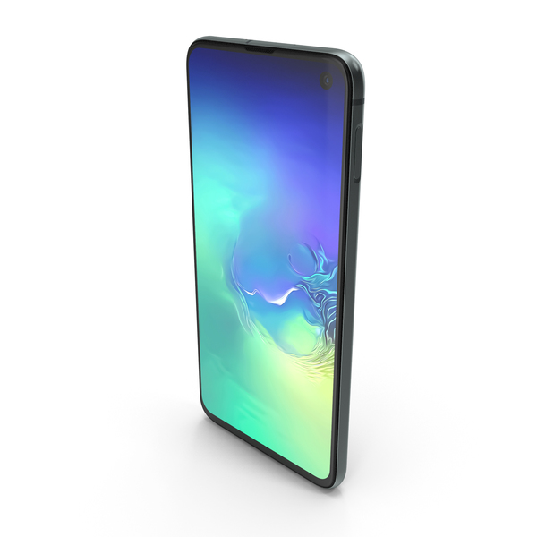 Samsung Galaxy S10e Prism Green PNG & PSD Images