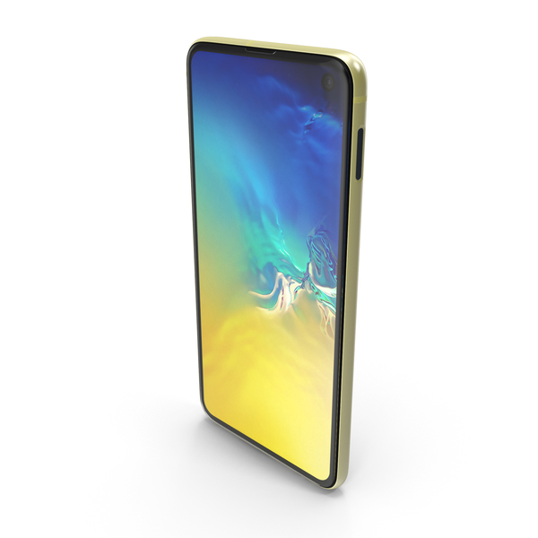 Samsung Galaxy S10E Yellow PNG & PSD Images