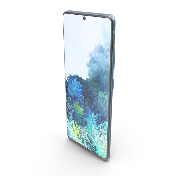 Smartphone: Samsung Galaxy S20 Cloud Blue PNG & PSD Images