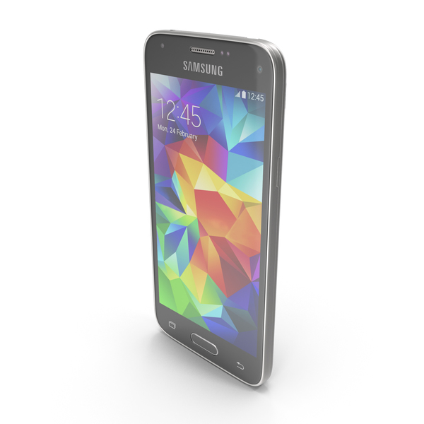 Smartphone: Samsung Galaxy S5 Mini Charcoal Black PNG & PSD Images