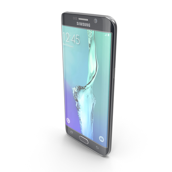 Samsung Galaxy S6 edge+ Black Sapphire PNG & PSD Images