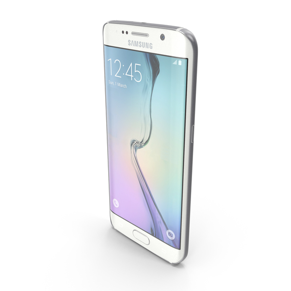 Samsung Galaxy S6 Edge White Pearl PNG & PSD Images
