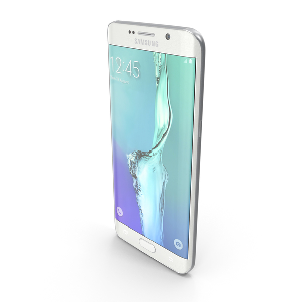 Smartphone: Samsung Galaxy S6 edge+ White Pearl PNG & PSD Images