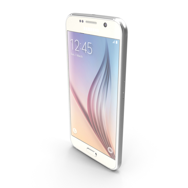 Samsung Galaxy S6 White PNG & PSD Images