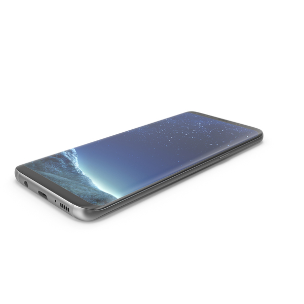 Samsung Galaxy S8 and S8 Plus Black PNG & PSD Images