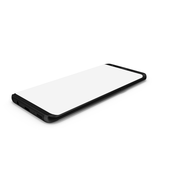 Smartphone: Samsung Galaxy S8 Midnight Black PNG & PSD Images