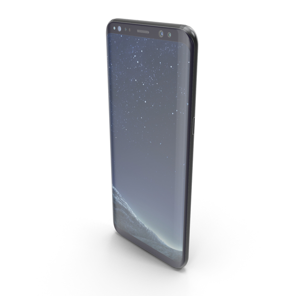 Smartphone: Samsung Galaxy S8 Plus Midnight Black PNG & PSD Images