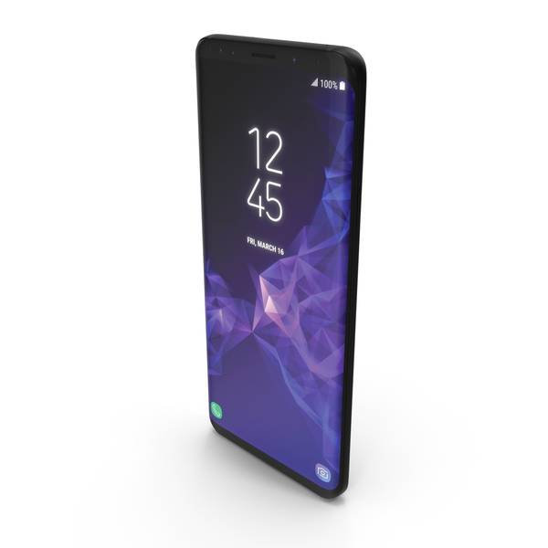 Samsung Galaxy S9 Plus Midnight Black PNG & PSD Images